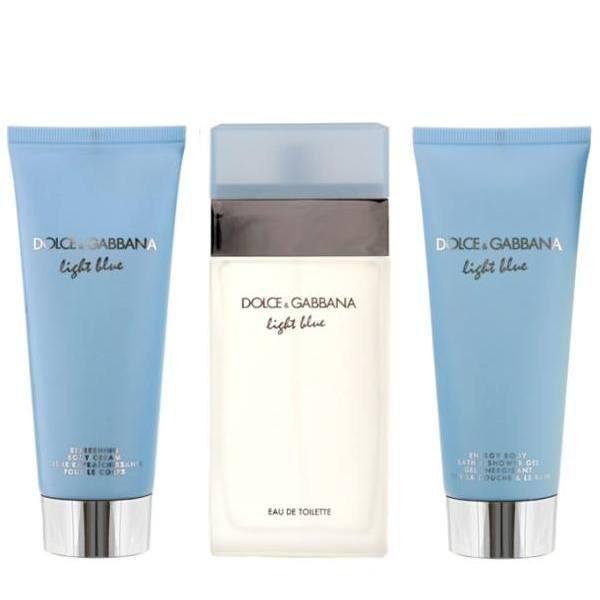 Dolce & Gabbana Light Blue Set - Eau de Toilette 100 ml + Body Cream 100 ml + Shower Gel 100 ml