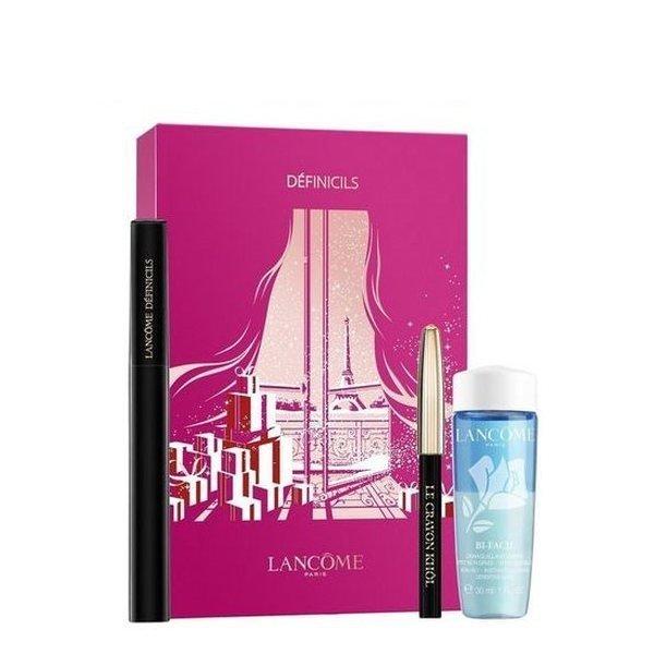 Lancome Definicils Set - Mascara 01 Noir Infini 6.5 ml + Le Crayon Kohl 01 Noir 0.7 g  + Make-up remover Bi-Facil 30 ml