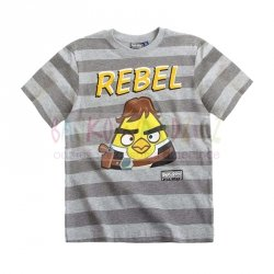 T-shirt Angry Birds Star Wars kolor szary