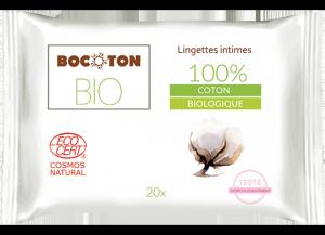 Bocoton Chusteczki do higieny intymnej 20szt. BIO