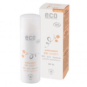 ECO Cosmetics Krem CC jasny SPF 30  z OPC, Q10 i kwasem hialuronowym  50ml