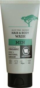 Urtekram MEN Płyn do mycia włosów i ciała z aloesem i baobabem 150 ml