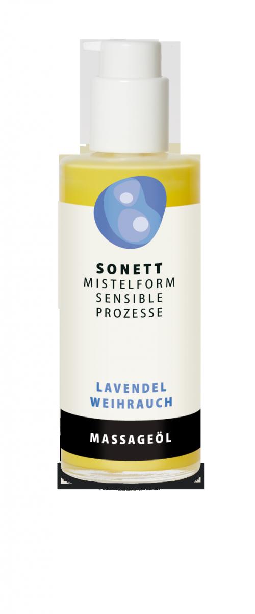 Sonett Olejek do ciała i masażu Lawenda – Kadzidłowiec, z rytmizowanym ekstraktem z jemioły