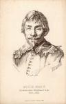 [HONDIUS Wilhelm]. Portret Wilhelm Hondius, Rytownik nadwr. Wladyslawa IV kr. pls., 1600 - 1652. Litografia ca 17,5x11 na ark. 21,5x14 cm.