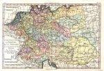 [EUROPA ŚRODKOWA].L'Allemagne, la Boheme, et la Hongrie; avec une partie de la Pologne. Miedzioryt kolorowany 21,3x32 cm.