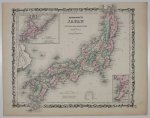 Johnson & Browning - Japonia. Staloryt. [New Illustrated Family Atlas. 1861].