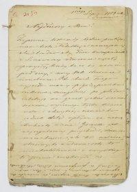 [ŁABĘCKI Hieronim]. Zbiór 19 listów rodzinnych Hieronima Łabęckiego, pochodzących głównie z 1859