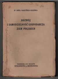 Daszyńska-GoliĹ�<br />�ska Zofia - RozwĂłj i samodzielność gospodarza ziem polskich
