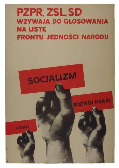 Świerzy Waldemar - PZPR, ZSL, SD wzywają do głosowania na listę Frontu Jedności Narodu. 1965.