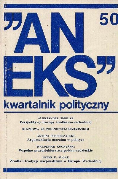 Aneks - kwartalnik polityczny. Nr 50.