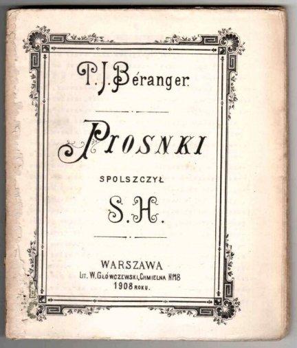 Beranger Jan Piotr - Piosnki.