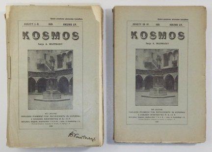 Kosmos. Czasopismo Polskiego Towarzystwa Przyrodników im. Kopernika. Serja A - Rozprawy. R. 54: 1929, z. 1-4 [w 2 wol.].