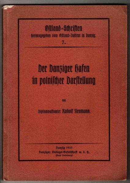 Neumann Rudolf - Der Danziger hafen in polnischer Darstellung. Bericht uber das Buch von K.Świątecki Rozwój portu Gdańskiego