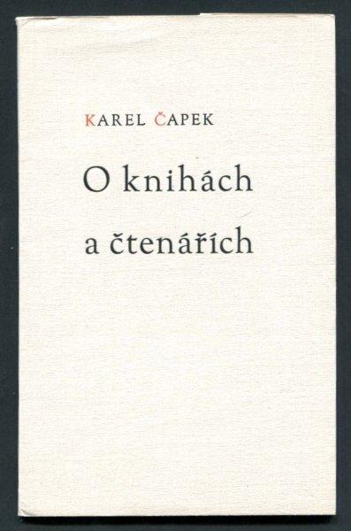 Capek Karel - O knihach a ctenarich
