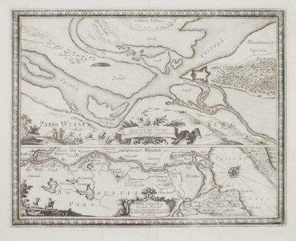 [POMORZE]. Delineatio et Situs Montower Spitze [...] [oraz] Exquisita Delineatio Fluvii Nogat [...]