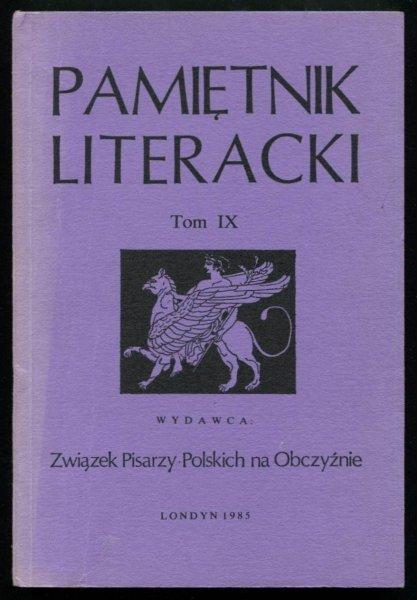 Pamiętnik Literacki. T. 9.