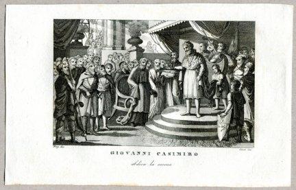 Giovanni Casimiro - miedzioryt 1831
