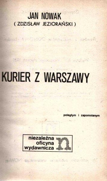 Jan Nowak (Zdzisław Jeziorański) - Kurier z Warszawy