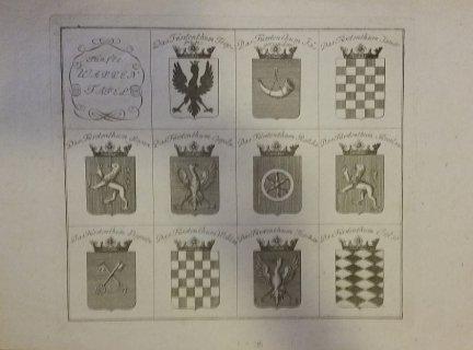 [ŚLĄSK]. Funfte Wappen Tafel. Miedzioryt 24x27,8 cm.