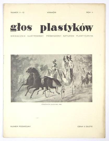 Głos Plastyków. R. 2, nr 11/12: [1932]