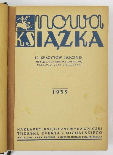 Nowa Książka. R. 2: 1935.