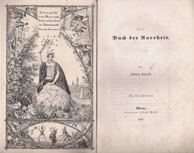 KALISCH Ludwig — Das Buch der Narrheit. Mit Holzschnitten.