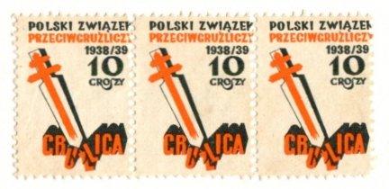 [ZNACZEK KWESTARSKI] - Gruźlica. Polski Związek Przeciwgruźliczy 1938/39. 10 groszy