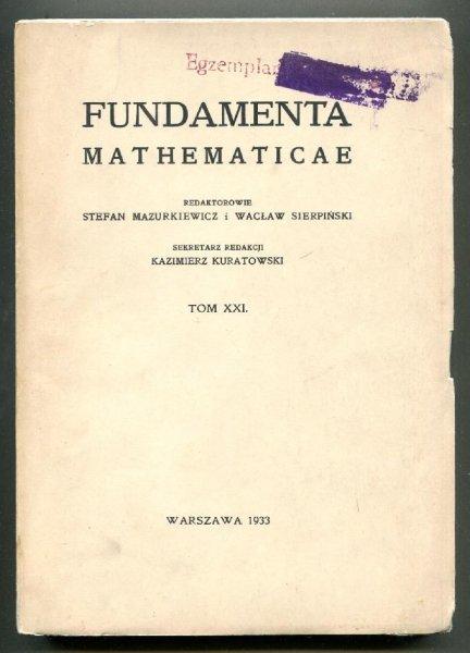 Fundamenta Mathematicae. Redaktorowie: Stefan Mazurkiewicz i Wacław Sierpiński. T.21 [1962]