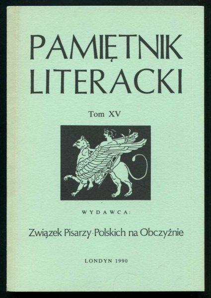 Pamiętnik Literacki. T. 15.