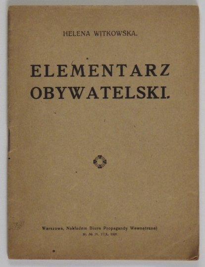 WITKOWSKA Helena - Elementarz obywatelski.