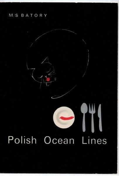 M/S Batory. Menu Wieczoru Kapitańskiego. Rejs Morze Bałtyckie, poniedziałek 28 kwietnia 1969