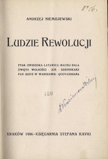 NIEMOJEWSKI Andrzej - Ludzie rewolucji