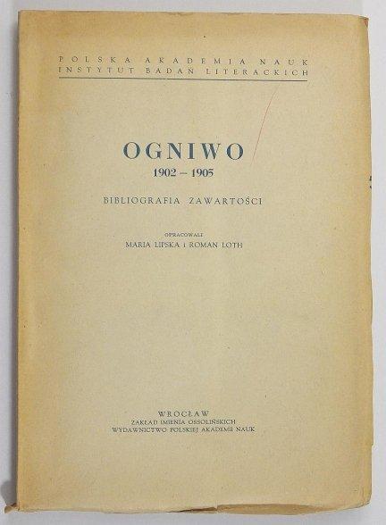 Lipska Maria, Loth Roman - Ogniwo 1902-1905. Bibliografia zawartości.
