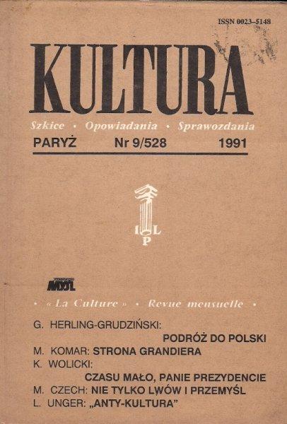 Kultura. Szkice, opowiadania, sprawozdania. Nr 9/528: IX 1991.