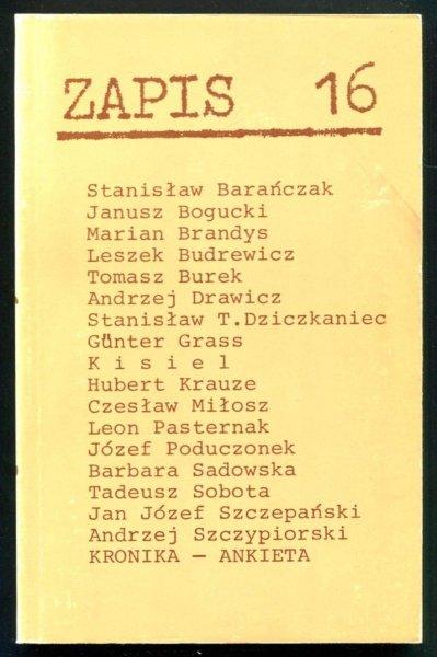 Zapis: poezja, proza, eseje, kronika. [R. 4], nr 16: X 1980.
