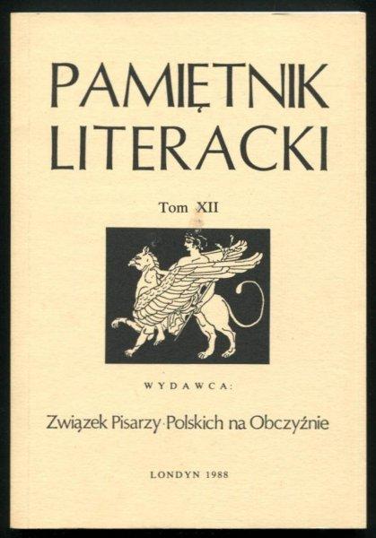 Pamiętnik Literacki. T. 12.