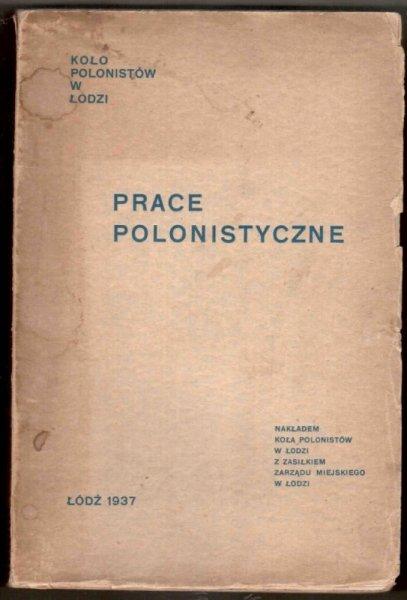 PRACE polonistyczne. S.1-3