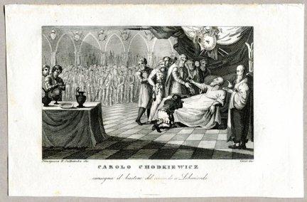 Carolo Chodkiewicz - miedzioryt 1831