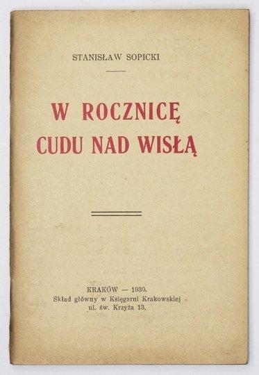 SOPICKI Stanisław - W rocznicę Cudu nad Wisłą.