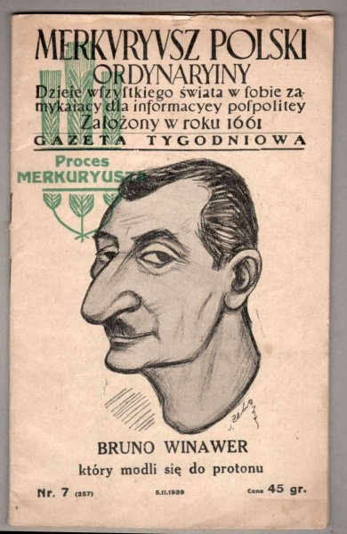 Merkuryusz Polski Ordynaryiny. Nr 7: 15 II 1939.