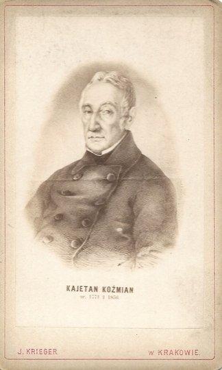 [Koźmian Kajetan] - fotografia portretowa wykonana w atelier Ignacego Kriegera
