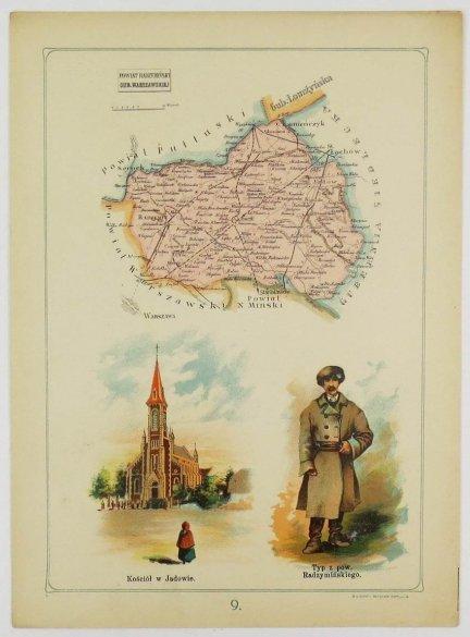Bazewicz J. M. - Powiat radzymiński gubernii warszawskiej - mapa 1907