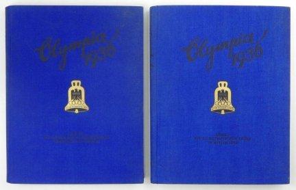Die Olympischen Spiele 1936 in Berlin und Garmisch-Partenkirchen herausgegeben vom Cigaretten-Bilderdienst Hamburg-Bahrenfeld. Band 1-2