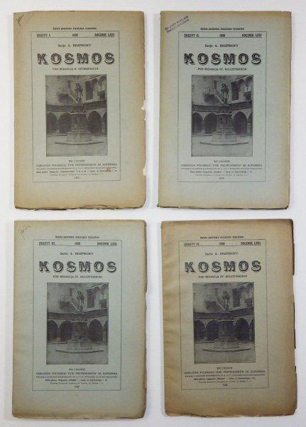 Kosmos. Czasopismo Polskiego Towarzystwa Przyrodników im. Kopernika. Serja A - Rozprawy. R. 63: 1938, z. 1-4