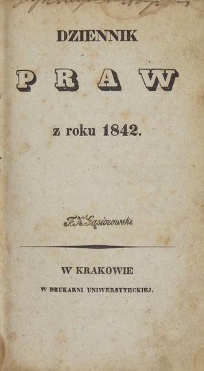 DziennikPraw z roku 1842. T.1-2