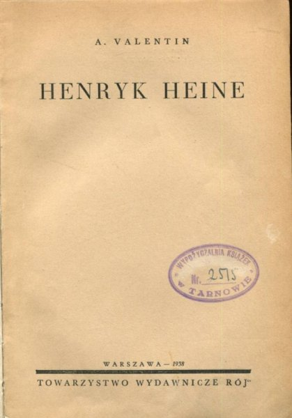 Valentin A. Henryk Heine