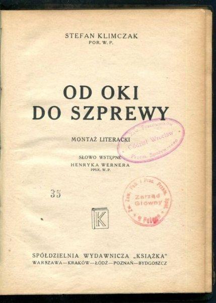 Klimczak Stefan - Od Oki do Szprewy. Montaż literacki.
