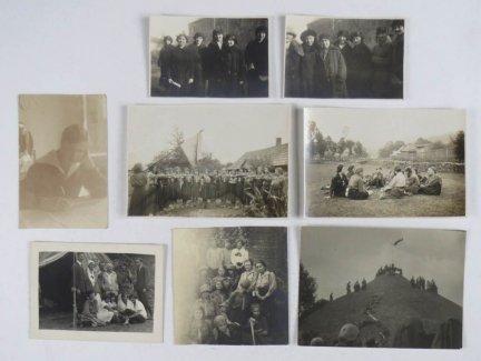 [FOTOGRAFIE]. Zbiór 8 zdjęć o tematyce harcerskiej z l. 20. i 30. XX w.