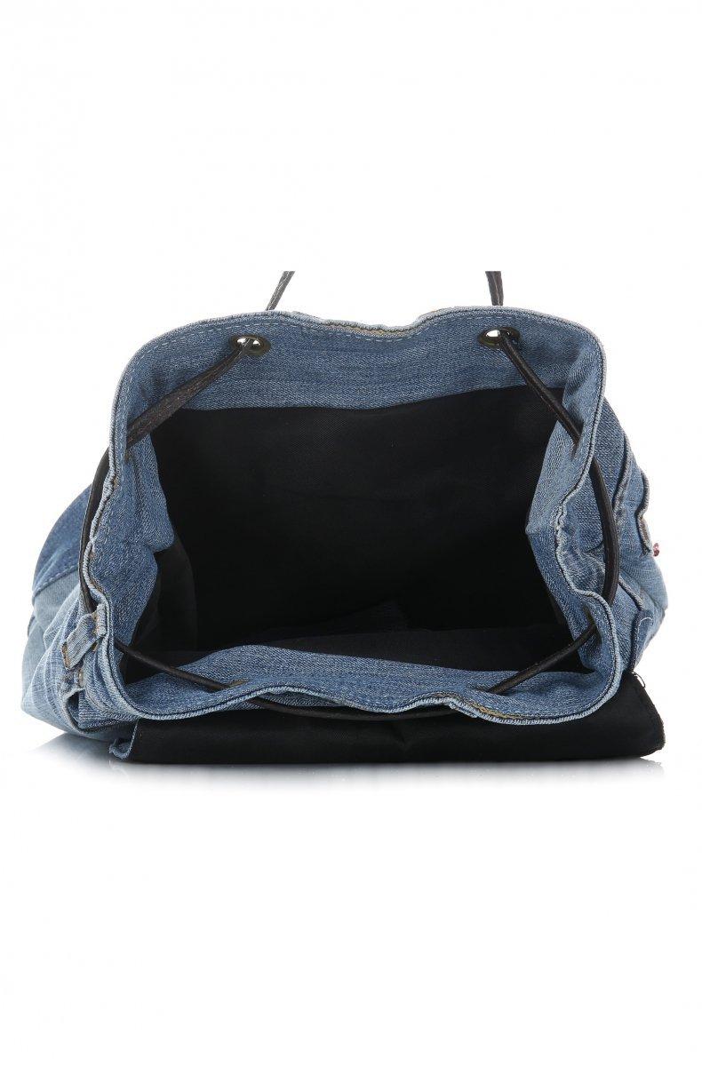 Plecak Jeansowy VITTORIA GOTTI Made in Italy Ciemno Jeansowa