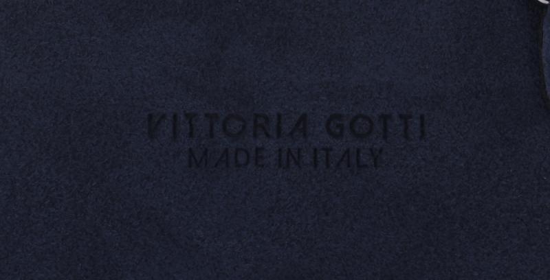 Listonoszka Skórzana VITTORIA GOTTI Made in Italy Granatowa